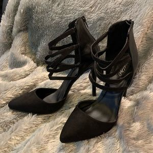 Mossimo Black Stiletto Strappy Heals - NWOT